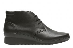 Clarks Caddell Hop Black Womens Boots